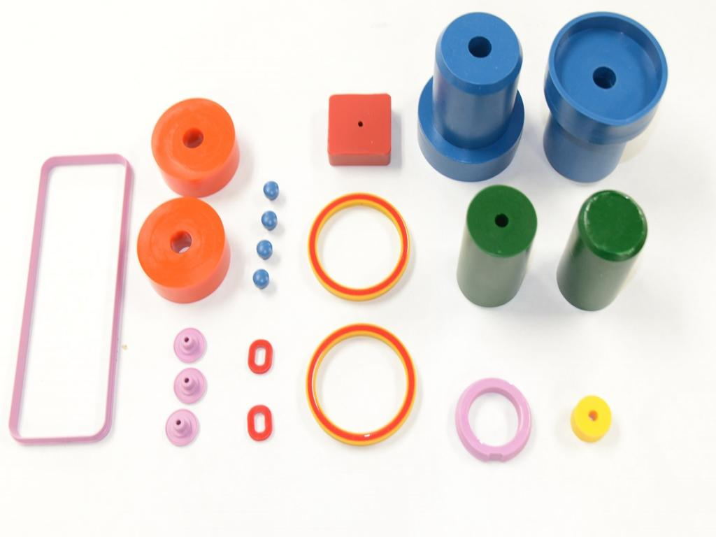 Various molded urethane pieces